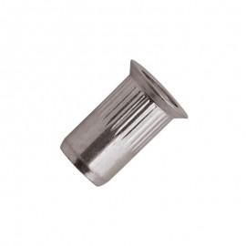 nitonakrętki moletowane - aluminium  - kołnierz stożkowy 90°