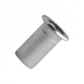nitonakrętka moletowana szczelna - stal ocynkowana - kołnierz cylindryczny