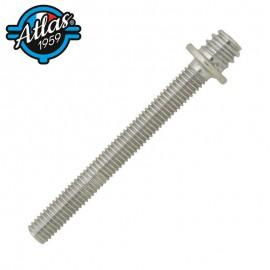 Śruba dwugwintowa do metalu z podkładką M7X150 - stal ocynkowana biały