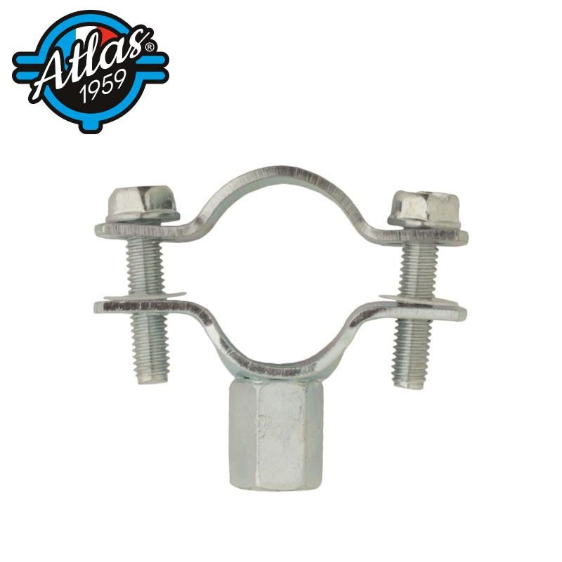 Klasyczny dwuelementowy uchwyt do rur - stal ocynkowana - standardowy - M8/M10
