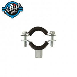 Klasyczny dwuelementowy uchwyt do rur - stal ocynkowana - z izolacją - M8/M10